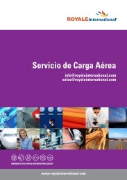 Servicio de Carga Aérea - Royale International Group