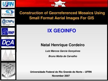Construction of Georreferenced Mosaics Using Small Format Aeri
