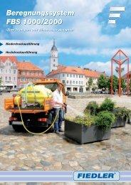 Beregnungssystem FBS 1000/2000 ... - FIEDLER GmbH