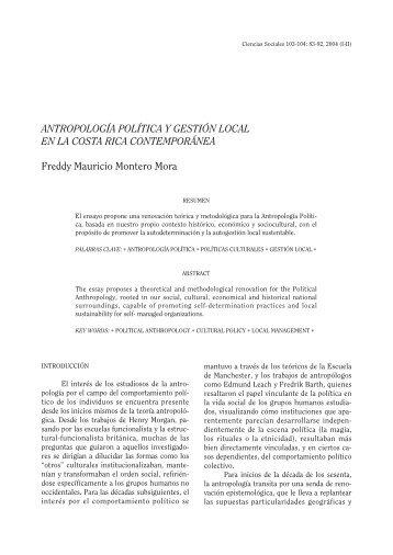 ANTROPOLOGÍA POLÍTICA Y GESTIÓN LOCAL EN LA COSTA ...