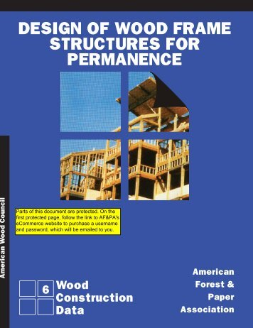 Design of Wood frame Structures for Permanence - American Wood ...