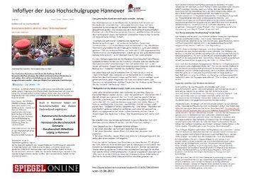 Wahlkampfflyer 2 - Jusos Hochschulgruppe Hannover