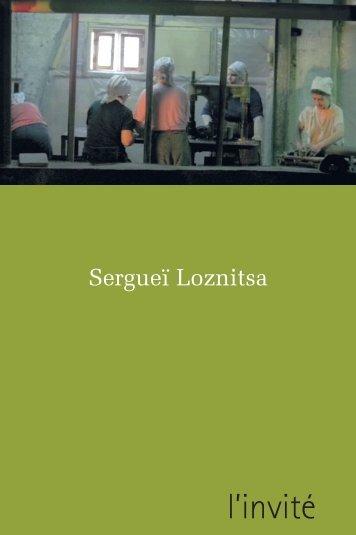 Sergueï Loznitsa - PDF - Filmer en Alsace