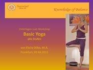 Workshop-Unterlagen sind hier verfügbar... - Santulan Veda eV
