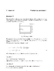 7. semester Continuum mechanics Exercise 9