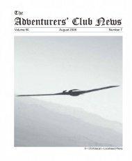 Adventurers' Club News Aug 2006 - The Adventurers