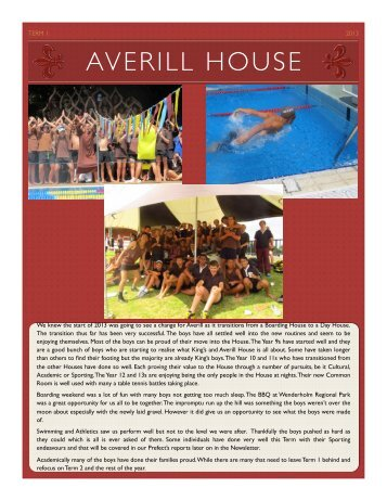 Averill Newsletter T1 2013 - King's College