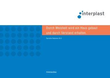 Prospekt Innenausbau - INTERPLAST Kunststoffe GmbH