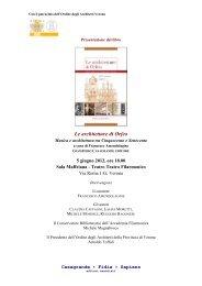 Presentazione Architetture di Orfeo.pdf - Ordine degli Architetti della ...