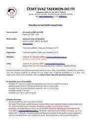 propozice pro zkoušky na TS dan - Český svaz Taekwon-Do ITF
