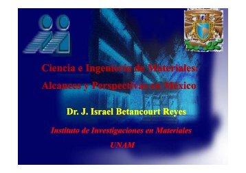 Ciencia e Ingeniería de Materiales - Academia de Ingeniería