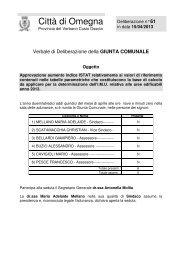 Consulta le delibera di approvazione - Comune di Omegna