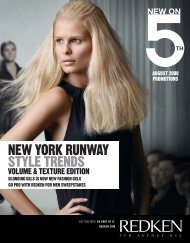 NEW YORK RUNWAY STYLE TRENDS - Redken Professional