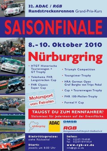 8.- 10. Oktober 2010 Nürburgring - Rgb-ev.de