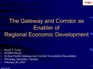 The Gateway and Corridor as Enabler of Regional Economic ...
