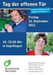 BWHN_TdoT_Ingelfingen2011:Layout 1 - Beschützende Werkstätte ...