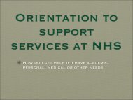 Orientation to Support Services at NHS - Needham High School