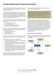 Schadensfalldatenbank für Operationelle Risiken - Dr. Peter ...