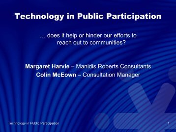 Technology in Public Participation - International Association for ...