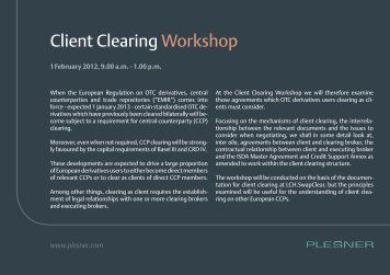 Client Clearing Workshop - Plesner