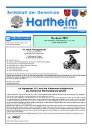 Dorfputz 2012 - Gemeinde Hartheim