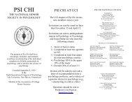 Psi Chi Brochure - UCI Cognitive Sciences