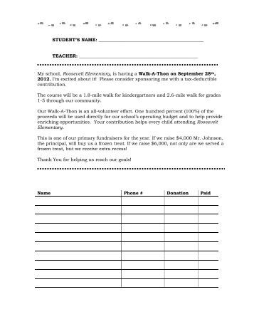 Pledge Sheets For Fundraising Template And Donation List 2016
