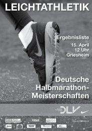 36. Deutsche Straßenlaufmeisterschaften ... - Leichtathletik.de