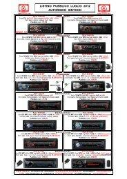 Listino GMA Autoradio Pubblico Lug 2012 - GMA ITALIA srl