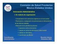 Comisión de Salud Fronteriza México-Estados Unidos Coordinación ...