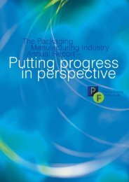 Download PF Annual Report 2001 (PDF) - The Packaging Federation