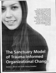 The Sanctuary Model of Trauma Informed Organizational Change