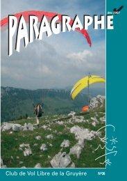 AA-Paragraphe 2/2007 - Club vol libre Gruyère, Fribourg