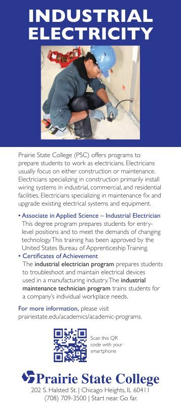 Industrial Electricity Fact Card - Prairie State College