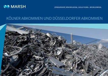 Kölner AbKommen und düsseldorfer AbKommen - Marsh