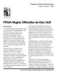 Règles Officielles de Disc Golf - Professional Disc Golf Association - Page 3