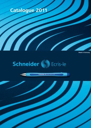 Catalogue 2011 - Schneider Schreibgeräte GmbH