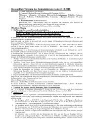 Protokoll der Sitzung des Gemeinderates vom 25.10.2010 - Lontzen