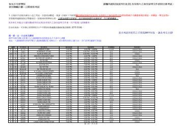 公開章別考試_InfoExam (for web all)(Jun 2011) - 恒生乒乓球學院