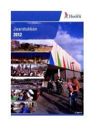 Jaarstukken 2012 - Gemeente Hoorn