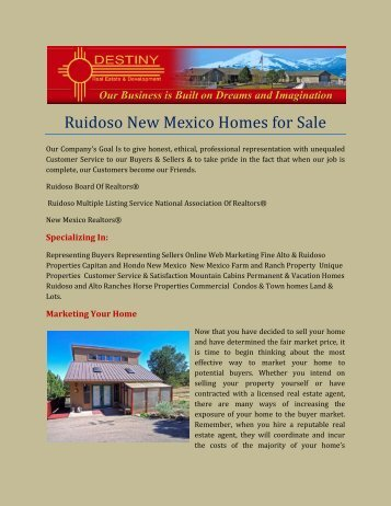 Ruidoso New Mexico Homes for Sale