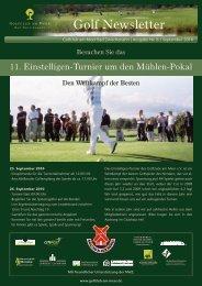 Newsletter September 2010 - Golfclub am Meer