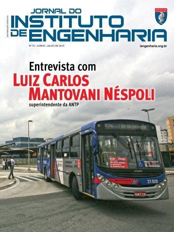 Luiz CarLos Mantovani nÉspoLi - Instituto de Engenharia
