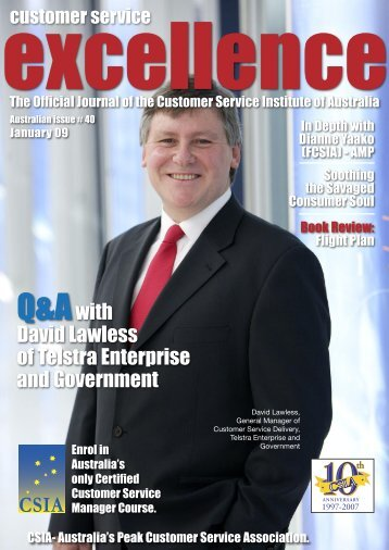 Issue 40 - Customer Service Institute of Australia