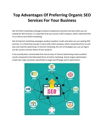 Top Advantages Of Preferring Organic SEO Services For Your Business