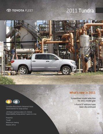 2011 Tundra - Toyota Canada