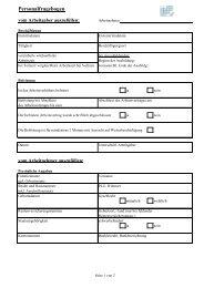 Personalfragebogen - Grund und Partner