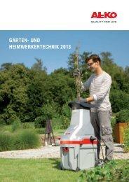 Garten- und heim werker technik 2013 - AL-KO Garten + Hobby