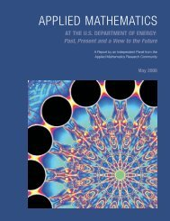 Applied Mathematics at the U.S. Department of ... - ASCR Discovery