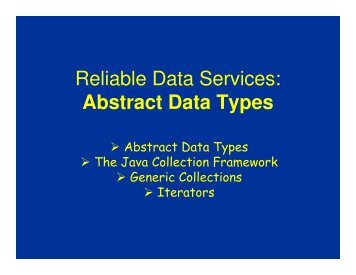 Reliable Data Services: Abstract Data Types - schmiedecke.info
